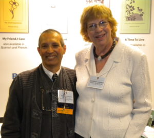 Frank with Barbara Karnes at an ADEC conference