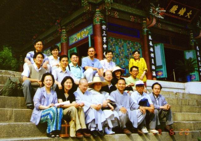 Brian Barry-International Dharma Instructor Class- In front of Daewoongjon, Bongwonsa-June 20, 1999